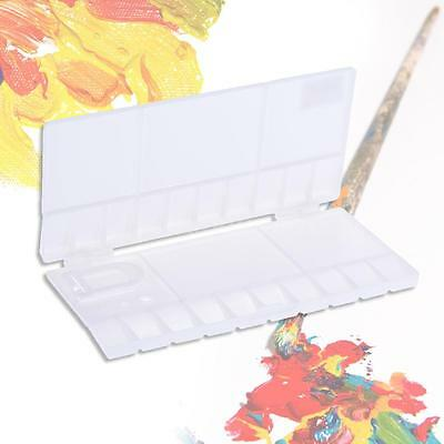 Professional 20Well Watercolor Folding Palette Box Paint Tray Painting Case T7T3