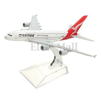 16cm Qantas Airways Australia Airlines A380 Airplane DieCast Plane Model Toy