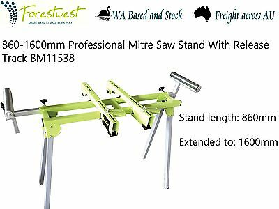 860-1600mm Universal Mitre Saw Bench Stand With Release Track BM11538