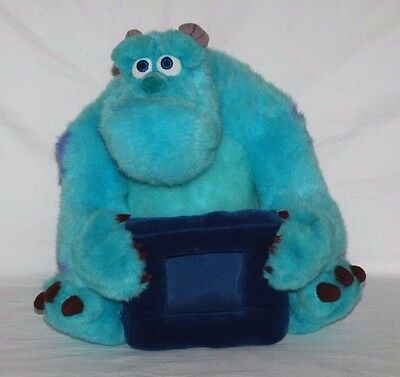 """10"""" Soft Cuddly Sulley from Disney Monsters Inc holding Photo Frame"""