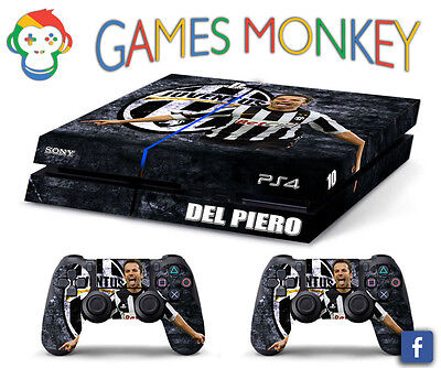 Skin PS4 JUVENTUS DEL PIERO limited edition DECAL COVER Playstation 4 BUNDLE