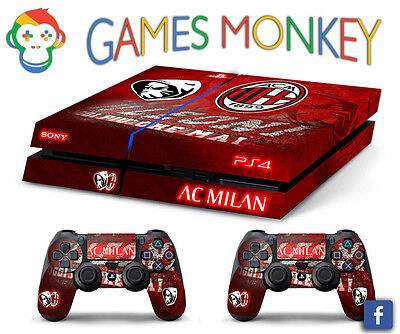 Skin PS4 AC MILAN ULTRAS limited edition DECAL COVER Playstation 4 SONY BUNDLE