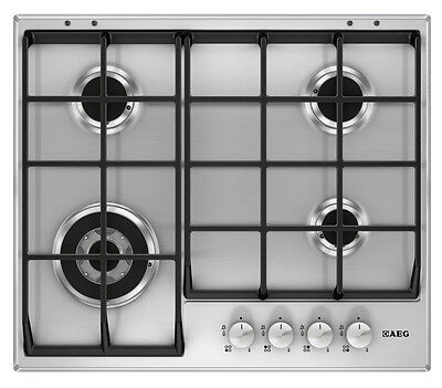 AEG HG654550SM 60cm Gas Hob Cast Iron Supports - Brand New - 24 Month Warranty!