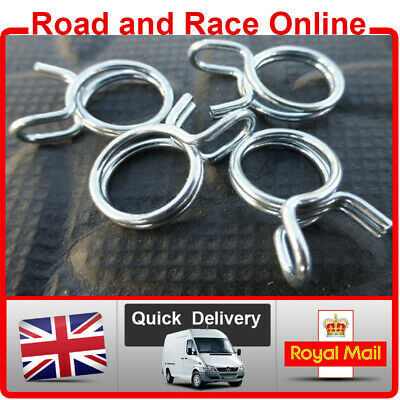 8mm Fuel Line Petrol Pipe Clips / Clamps Spring Wire Type Pack Of 4 Suit Honda