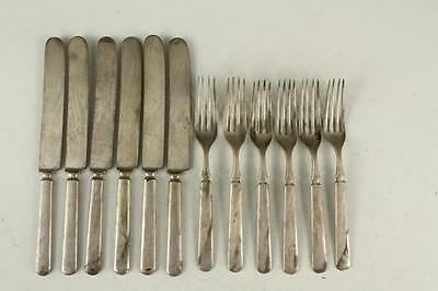 Vintage Silverplated Flatware AUGUST MEYER Warranted 16 DWT Forks & Knives 12PC