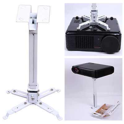 2 IN 1 Universal Fitting Cinema LCD DLP Projector Mount Ceiling Wall Bracket