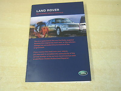 Range Rover Land Rover    Service Book Unused And Blank 2005-2009