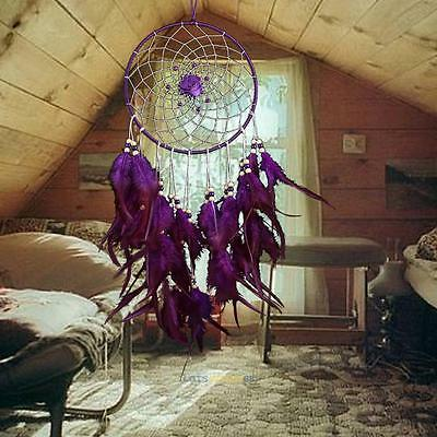 """Handmade Dream Catcher with Feather Wall Hanging Decoration Ornament 17.72"""" Long"""