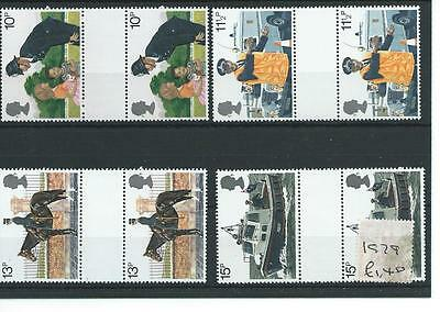wbc. - GB - COMMEMS - 1979- METROPOLITAN POLICE - GUTTER PAIRS - UNM MINT SETS