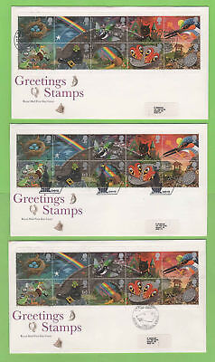 G.B. - Collection of five Greetings Royal Mail label First Day Covers