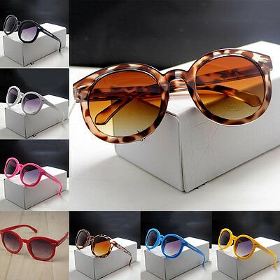 Kids ANTI-UV Glasses Candy Colors Boys Girls Children Round Sunglasses Eyewear #