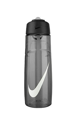 Nike 24oz T1 Flow Swoosh Water Bottle   Anthracite/White