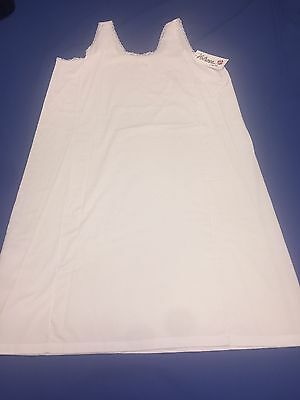 VELROSE Ladies Cotton Full Slip Size 38 & 42inches From Shoulders