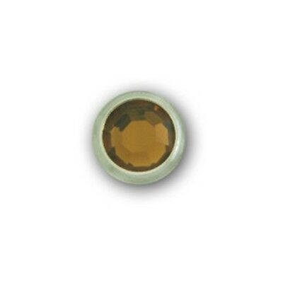 """11031-E123 5/16"""" Root Beer Acrylic 2 Prong Rhinestones with Round Nickel Setting"""