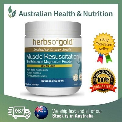 Herbs Of Gold Muscle Resuscitation 300Gm - Bio-Enhanced Magnesium + Free Post