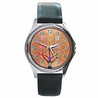 Kabballah Tree of Life Judaism Leather Watch New!