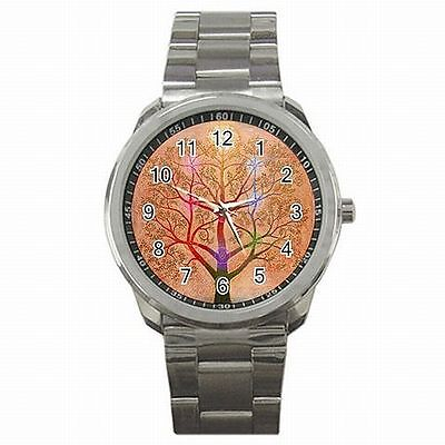 Kabballah Tree of Life Judaism Stainless Steel Watch