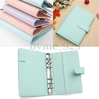 3 Types A6 Loose Leaf Ring Binder Notebook Weekly Monthly Planner Diary 19x13cm