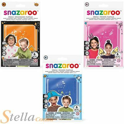 Snazaroo Face Painting Stencils 6 Designs For Boys & Girls Face Paint Make Up
