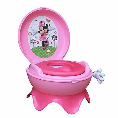 Toddler Training Toilet Chair System Baby Potty Seat Girl Pink Minnie Mouse