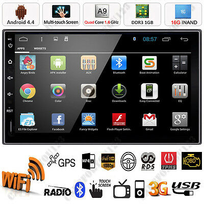 "Android 4.4 Double 2 Din 7"" Car Stereo GPS MP5 Player Bluetooth FM Radio WiFi 3G"