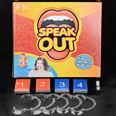 Speak Out Board FUNNY MOUTHPIECE Game Mouthguard Challenge Game Christmas Gift