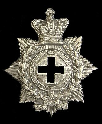 Victorian The Medical Staff Corps Badge Solid Silver