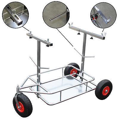 NEW  Go Kart 3 Wheel Chrome Trolley with Shelf Foam Wheels for Rotax Kosmic CRG