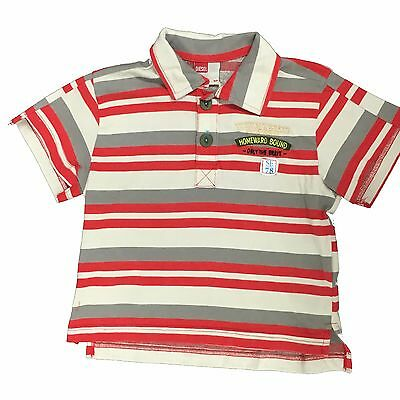 Baby Boys Diesel Polo Shirt Trifcty Striped Top Red Age 6-18 Months New