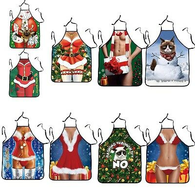 3D Funny Apron Sexy Christmas Clothes Kitchen Cook Apron Gift Party Costume Joke