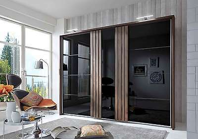 kleiderschrank gleitt renschrank schrank schwarz glas. Black Bedroom Furniture Sets. Home Design Ideas