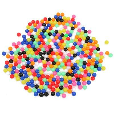 Multicolor 1000pcs 8mm Round Beads Assortment Plastic Fishing Tackle Tools