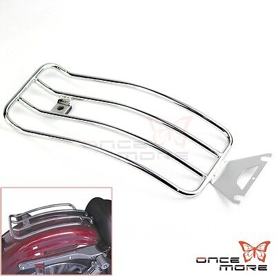 New Chrome Solo Seat Rear Fender Luggage Rack Fit 1998-04 FLHT ELECTRA GLIDE
