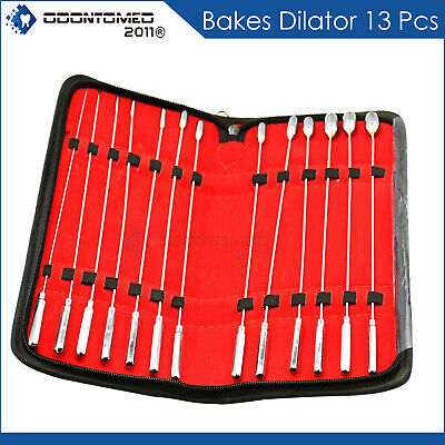 Bakes Rosebud Urethral Sounds Dilator Set of 13 Pieces