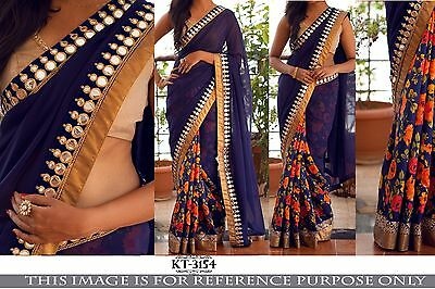 Indian Designer Sari, Bollywood Sari, Asian Wedding Party Wear Traditional Saree