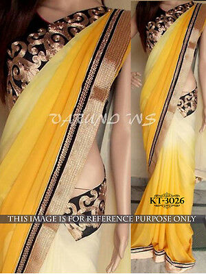 Indian Party Wear Bollywood Thread Work Sari Bridal Wedding Pakistani Saree/suit