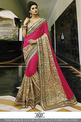 Indian Traditional Party Wear Bollywood Sari Bridal Wedding Pakistani Saree