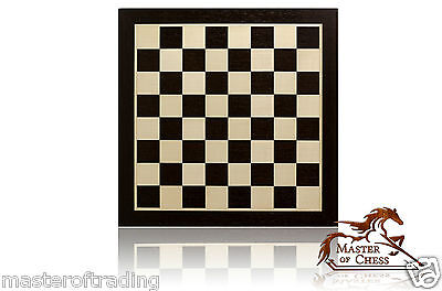 INLAID WENGE & SYCAMORE PRO WOODEN TOURNAMENT CHESS BOARD (4.5cm sq) 44x44cm!