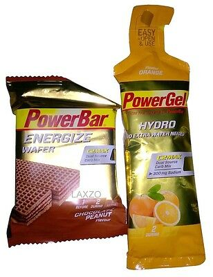 Powerbar Energise Energy sports cycling wafer bar & Gel Chocolate Peanut &Orange