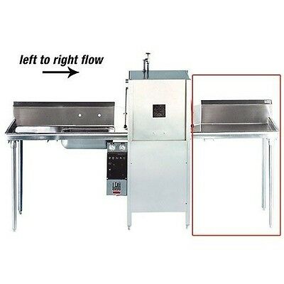 Advance Tabco DTC-S60-72R-X Prepackaged Dishtable Clean Table, Right to Left Flo