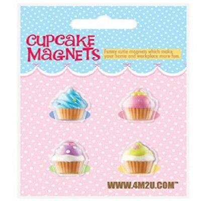 Random Colour - Pack Of 4 Cupcakes Magnets 00487