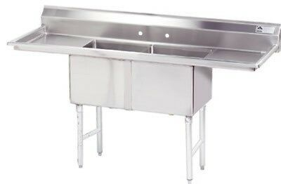 "Advance Tabco Fabricated 54"" One Compartment Sink Model FC-1-1824-18RL"