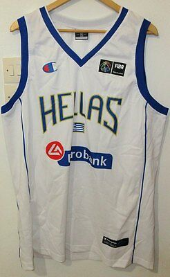 Hellas Authentic Basketball Shirt By Champion Xxl Greece