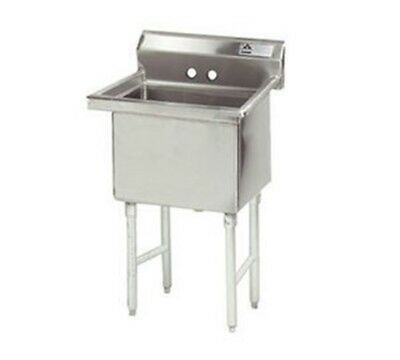 "Advance Tabco FC-1-1818-X Fabricated Economy Sink, 23"" x 24"" OA, 1 compartment,"