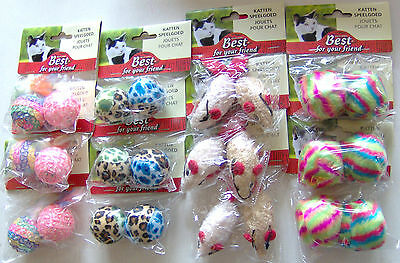 Cat Kitten Play Toy Selection Festive Christmas Stocking Fillers Presents 24pcs