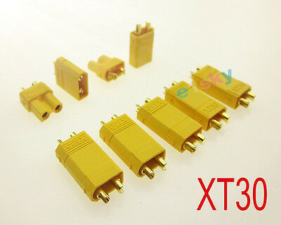 10 Pairs F / M XT30 Connector Plug Socket 2mm For RC Quadcopter Multicopter Airp