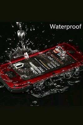 Waterproof Shockproof Aluminum Gorilla Metal Cover Case For Apple iPhone 6S /RED