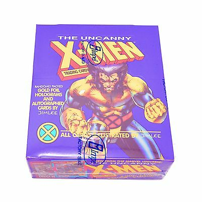 1992 Impel Marvel The Uncanny X-Men Sealed Trading Card Box - Purple Wolverine