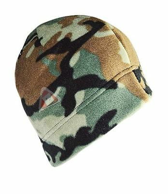 New Men's Adult Green Army Camouflage Fleece Hat One Size Fits All