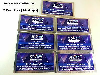 7 Pouches (14 Strips) Crest 3D Whitestrips LUXE Professional Effect Whitening